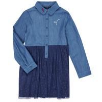 Kleidung Mädchen Kurze Kleider Ikks XR30122 Blau