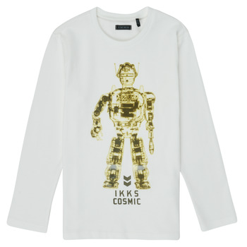 Kleidung Jungen Langarmshirts Ikks XR10233 Weiss