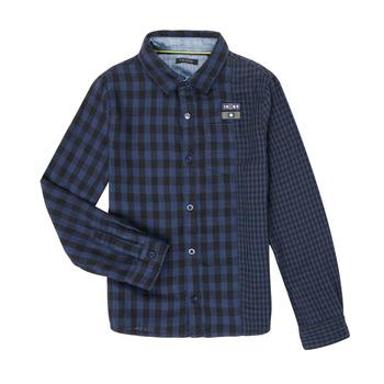 Kleidung Jungen Langärmelige Hemden Ikks XR12123 Blau