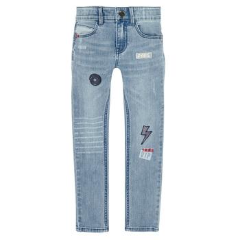 Kleidung Jungen Slim Fit Jeans Ikks XR29053 Blau