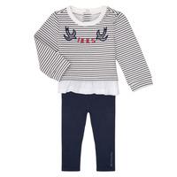 Kleidung Mädchen Kleider & Outfits Ikks XR36030 Marine / Weiss
