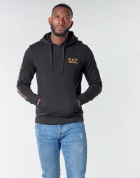 Kleidung Herren Sweatshirts Emporio Armani EA7 TRAIN LOGO SERIES M HOODIE RN COFT Schwarz
