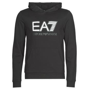 Kleidung Herren Sweatshirts Emporio Armani EA7 TRAIN VISIBILITY M HOODIE RN COFT Schwarz