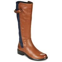 Schuhe Damen Klassische Stiefel Caprice 25504-387 Cognac / Blau
