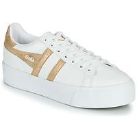 Schuhe Damen Sneaker Low Gola ORCHID PLATEFORM Weiss / Gold