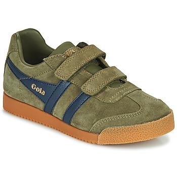 Schuhe Kinder Sneaker Low Gola HARRIER VELCRO Kaki / Marine