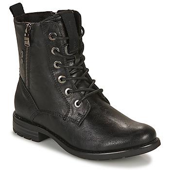 Schuhe Damen Boots Tom Tailor 93303-NOIR Schwarz
