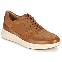 Schuhe Herren Sneaker Low Clarks UN GLOBE RUN Camel
