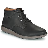 Schuhe Herren Derby-Schuhe Clarks UN LARVIK TOP2 Schwarz