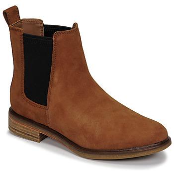 Schuhe Damen Boots Clarks CLARKDALE ARLO Camel
