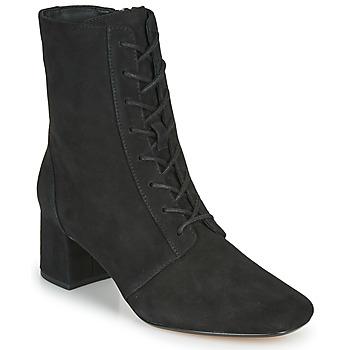 Schuhe Damen Low Boots Clarks SHEER55 LACE Schwarz