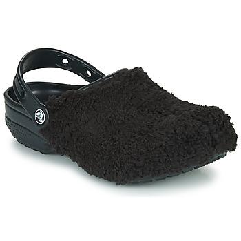 Schuhe Pantoletten / Clogs Crocs CLASSIC FUZZ MANIA CLOG Schwarz