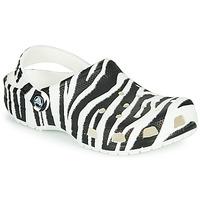 Schuhe Damen Pantoletten / Clogs Crocs CLASSIC ANIMAL PRINT CLOG Olive / gelb