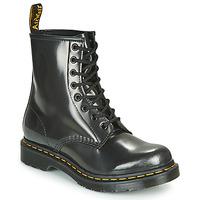 Schuhe Damen Boots Dr Martens 1460 W Silbern