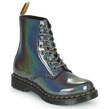 Schuhe Damen Boots Dr Martens VEGAN 1460 PASCAL Silbern