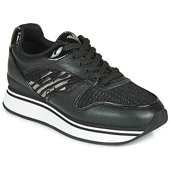 Schuhe Damen Sneaker Low Emporio Armani X3X046-XM547 Schwarz