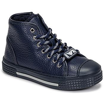 Schuhe Kinder Sneaker High Emporio Armani XYZ004-XOI25 Marine