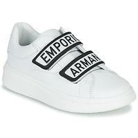 Schuhe Kinder Sneaker Low Emporio Armani XYX007-XCC70 Weiss / Schwarz
