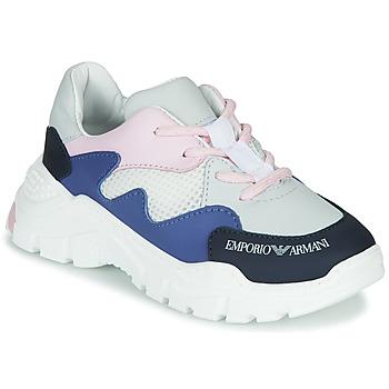 Schuhe Jungen Sneaker Low Emporio Armani XYX008-XOI34 Weiss / Blau