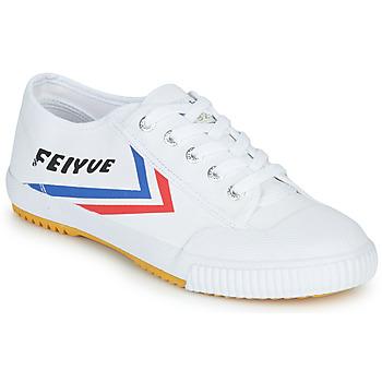 Schuhe Sneaker Low Feiyue FE LO 1920 Weiss / Blau / Rot