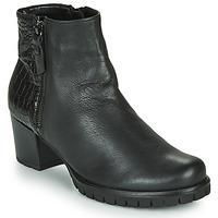 Schuhe Damen Low Boots Gabor 5665367 Schwarz