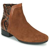 Schuhe Damen Low Boots Gabor 5271235 Camel