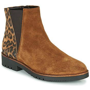 Schuhe Damen Low Boots Gabor 5658143 Cognac