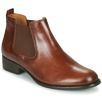 Schuhe Damen Low Boots Gabor 5164020 Camel