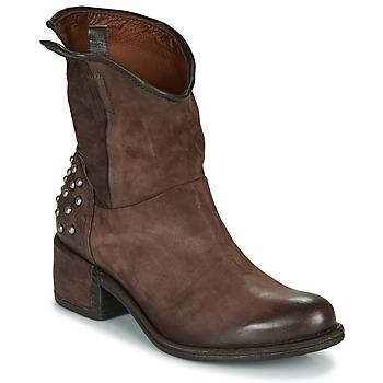 Schuhe Damen Boots Airstep / A.S.98 OPEA STUDS Braun