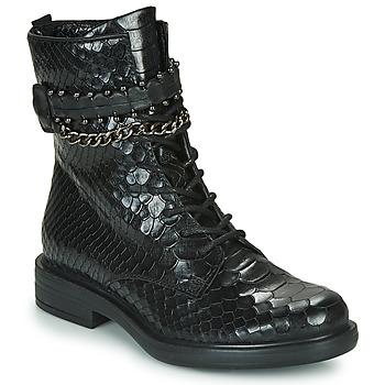 Schuhe Damen Boots Mjus CAFE SNAKE Schwarz