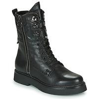 Schuhe Damen Boots Mjus TRIPLE ZIP Schwarz