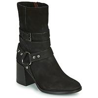 Schuhe Damen Low Boots Mjus TUA BUCKLE Schwarz