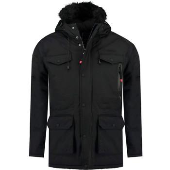 Kleidung Jungen Parkas Geographical Norway ALCALINE BOY Schwarz