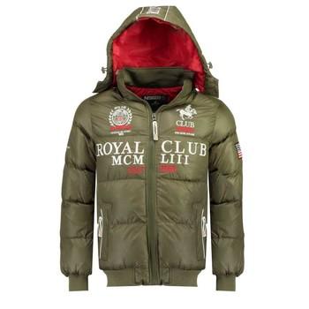 Kleidung Jungen Daunenjacken Geographical Norway AVALANCHE BOY Kaki