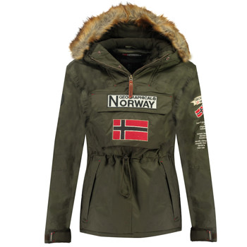 Kleidung Jungen Parkas Geographical Norway BARMAN BOY Kaki