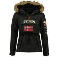 Kleidung Jungen Parkas Geographical Norway BARMAN BOY Schwarz