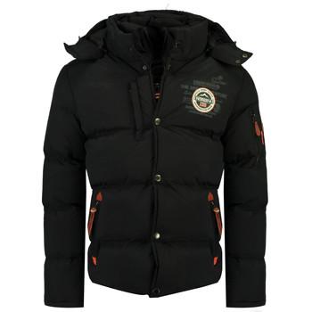 Kleidung Jungen Daunenjacken Geographical Norway VERVEINE BOY Schwarz