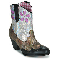Schuhe Damen Boots Irregular Choice POLLYWOOD Braun / Silbern