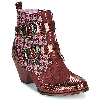 Schuhe Damen Boots Irregular Choice TOO HEARTS Bordeaux