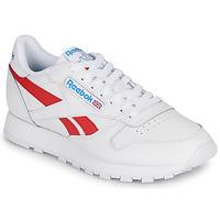 Schuhe Sneaker Low Reebok Classic CL LTHR Weiss / Rot