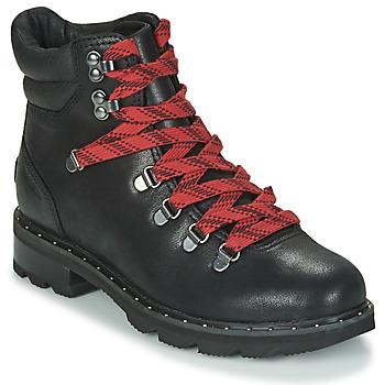 Schuhe Damen Boots Sorel LENNOX HIKER Schwarz