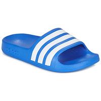 Schuhe Jungen Pantoletten adidas Performance ADILETTE AQUA K Blau / Weiss
