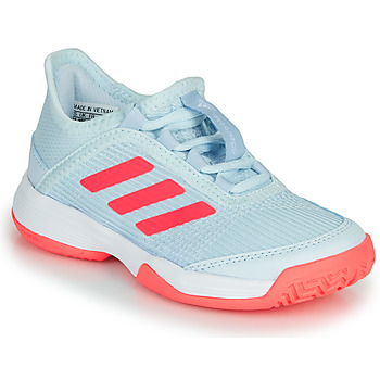 Schuhe Kinder Tennisschuhe adidas Performance ADIZERO CLUB K Blau / Rose