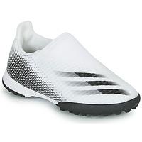 Schuhe Kinder Fußballschuhe adidas Performance X GHOSTED.3 LL TF J Weiss