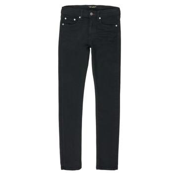 Kleidung Jungen Straight Leg Jeans Teddy Smith FLASH Schwarz