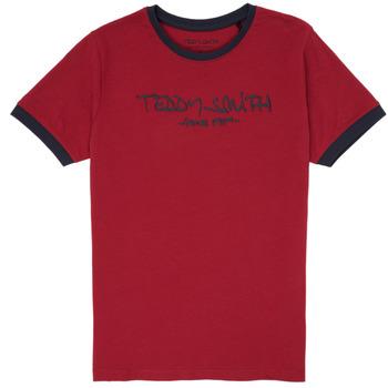 Kleidung Jungen T-Shirts Teddy Smith TICLASS 3 Rot