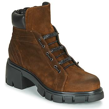 Schuhe Damen Low Boots Fru.it POMPEI Braun