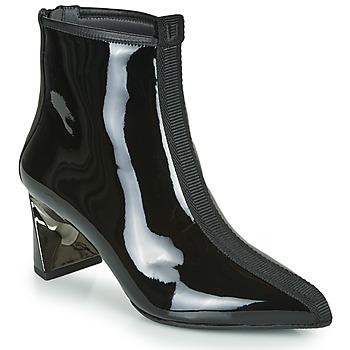 Schuhe Damen Low Boots United nude LUCID MOLTEN MID Schwarz