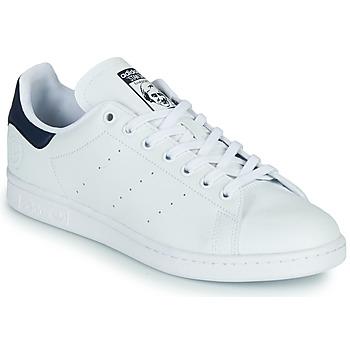 Schuhe Sneaker Low adidas Originals STAN SMITH VEGAN Weiss / Blau