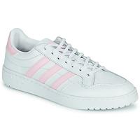 Schuhe Damen Sneaker Low adidas Originals TEAM COURT W Weiss / Rose